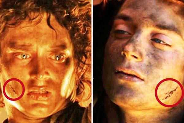 Cicatrices que cambian de lugar en El Señor de los Anillos.